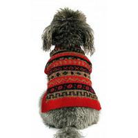 Alpaca Dog Sweater - Red Splendor