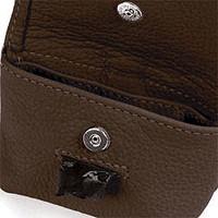 Brown Leather Leash Accessory Poop Bag Holder