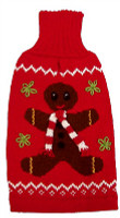 Alpaca Dog Sweater - Gingerbread Man
