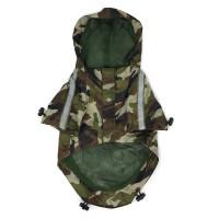 Army Camo Dog Raincoat
