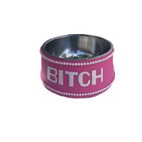 Pink Bitch Dog Bowl