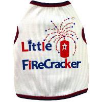 Little Firecracker Dog Tank Top by I See Spot