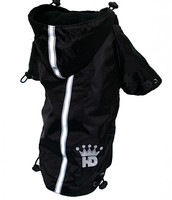 HD Puppagonia Dog Rain Parka - Black by Hip Doggie - XS - BDXL