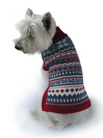 Alpaca Dog Sweater - Rombus Delight - XL Only