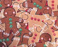 Christmas Dog Bandana - Happy Gingerbread Men