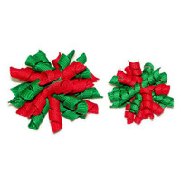 Dog Bows - Christmas Red & Green Whirlie