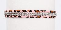 Pink Cheetah Giltmore 2 Row Dog Collars