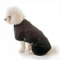 Quilted Horse Blanket Dog Coat - Blue Size 20