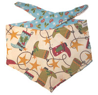 Christmas Dog Bandana - Boot Scootin Christmas