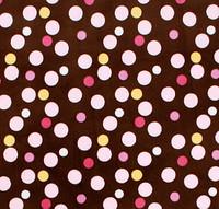 Snuggler Pet Dog Bed 3 'n 1 - Curly Pink Multi-Dot Pink