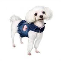 Cupcake and Rhinestones Denim Dog Harness Vest