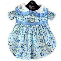 Blue Belle Floral & Gingham Dog Harness Dress