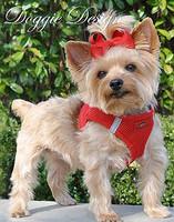American River Choke Free Step In Dog Harness - Red - 1 - 50 lbs