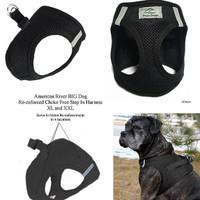 American River Choke Free Step In Dog Harness - Black - 1 - 50 lbs