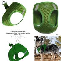 American River Choke Free Step In Dog Harness - Green - 1 - 50 lbs