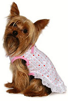 Pink Polka Dot Ruffle Dog Dress