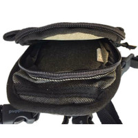 Small Dog Black Denim Backpack by Puppia