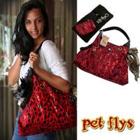 Red RunAround Pet Dog Tote by Pet Flys