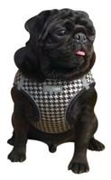 EZ Reflective Houndstooth Dog Harness Vest - White / Black