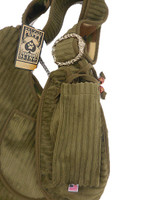 Private Stripes Army Green & Camo Puppy Dog Sling by Pet Flys