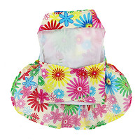 Floral Tuscany Dog Dress with Leash