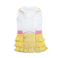 Yellow Sunshine Chevron Dog Dress