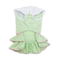 Green Little Flower Dog Dress