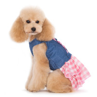 Denim & Pink Chic Dog Dress
