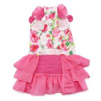Pink Floral Flounce Dog Dress