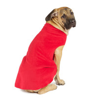 Gold Paw Stretch Fleece - Red