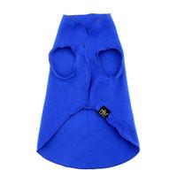 Gold Paw Stretch Fleece - Cobalt Blue