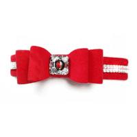 Wide Big Bow 2 Row Giltmore Dog Collar - Susan Lanci