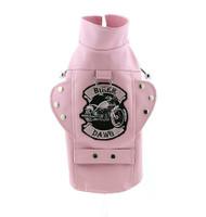 Biker Dawg Dog Jacket - Pink
