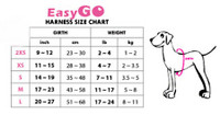 EasyGo Dog Harness Size Chart