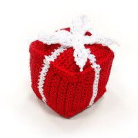Gift Box Crocheted PAWer Squeaker Dog Toy