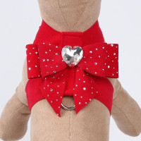 Silver Stardust Tail Bow Heart Tinkie Harnesses by Susan Lanci
