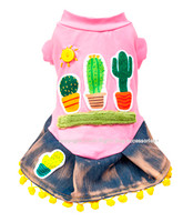 Designer Cactus Dog Dress