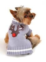 Reindeer Dog Sweater - Chocolate