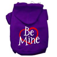Be Mine Screen Print Dog Hoodie - 9 Colors