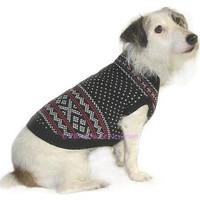 Dinner Date Jacquard Dog Sweater