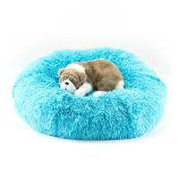 Aqua Shag Dog Bed