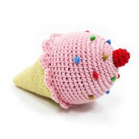 Ice Cream Cone PAWer Squeaker Dog Toy
