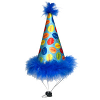 Party Time Blue Dog Hat