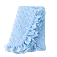 Baby Pet Dog Ruffle Blanket - Baby Blue