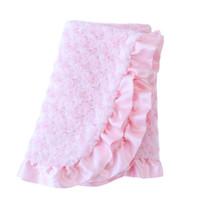 Baby Pet Dog Ruffle Blanket - Baby Pink