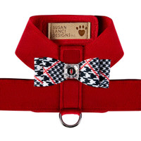 Classic Glen Houndstooth Big Bow Tinkie Harness - Choose Color