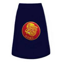 US Marines Bulldog Patch Dog Tees
