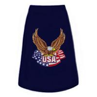 Eagle w/ American Flag Patch Dog Tees