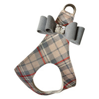 Scotty Doe Plaid Step In Harness with Platinum Big Bow