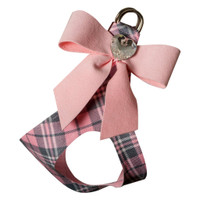 Scotty Puppy Pink Tail Bow Heart Step In Harness w/ Puppy Pink Tailbow